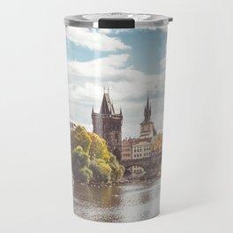 Charles Bridge and Vltava Travel Mug
