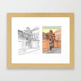 Former mansion of Aix-en-Provence (France) - Two-part illustration Framed Art Print