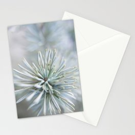 pine needles in blurry green shades Stationery Cards