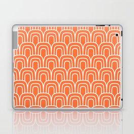 Rainbow Scallop Pattern Orange Laptop & iPad Skin