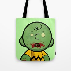 Zombie Charlie Brown Tote Bag