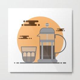 French Press Coffee Metal Print