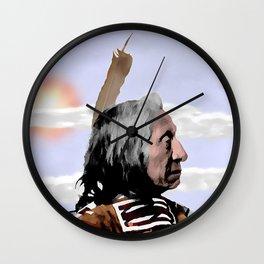 Chief Red Cloud. Oglala Lakota. 1898 COLOR - 026c Wall Clock