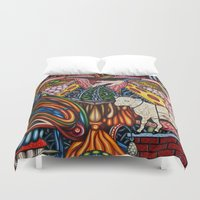 mother Duvet Covers featuring Mother by Thom Whalen