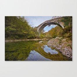 The roman bridge Canvas Print
