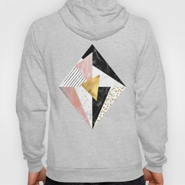 Elegant geometric marble and gold design Hoody