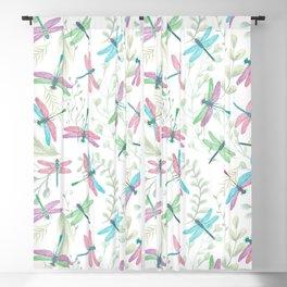 Bright Dragonflies Blackout Curtain