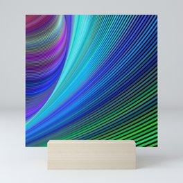Surfing in a magic wave Mini Art Print