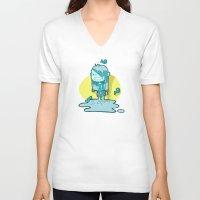 aquarius V-neck T-shirts featuring Aquarius by Chiara Zava