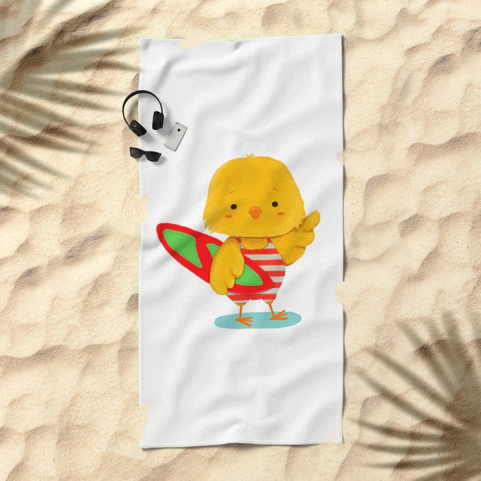 Surf Bird Beach Towel