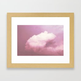 Cotton Candy Sky Framed Art Print