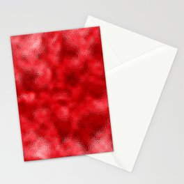 Neon Red Mottled Metallic Foil Stationery Cards