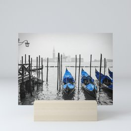 Gondolas in Venice Mini Art Print
