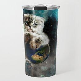 Space Puss saves the World Travel Mug