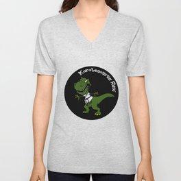 Karatesaurus Rex Karate Present Gift Dino Dinosaur Unisex V-Neck