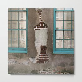Cracked Wall Metal Print