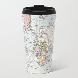 Antique Map of European Colonies Travel Mug