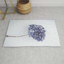 Dried Blue Hydrangea Rug