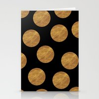 polkadot Stationery Cards featuring GOLD POLKADOT 1 by wlydesign