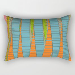 Fabulous Lights on Boulevard Glass Buildings Rectangular Pillow