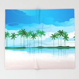 Tropical Coast Throw Blanket