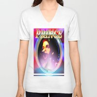 prince V-neck T-shirts featuring PRINCE  by KEVIN CURTIS BARR'S ART OF FAMOUS FACES