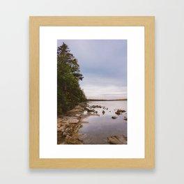 Sunrise at Lake Crawford Framed Art Print