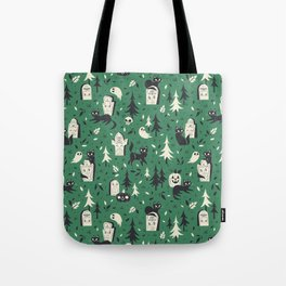 Cemetery Cuties (Green) Tote Bag