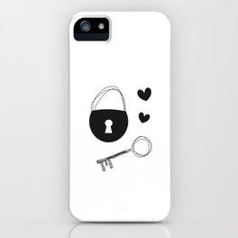Lov padlock sketch iPhone Case