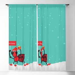 Busy Ant.Merry christmas Blackout Curtain