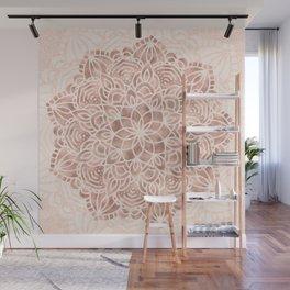 Mandala Seashell Rose Gold Coral Pink Wall Mural