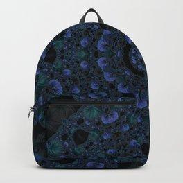 Blue and Black Fractal Kaleidoscope Backpack