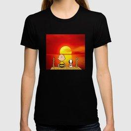 sunset snoopy T-shirt