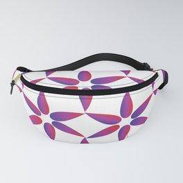 Purple Red Geometric Petals Fanny Pack