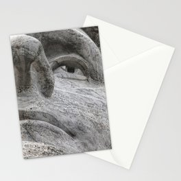Rushmore Face of Jefferson Stationery Cards