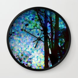 Blue Raspberry Jellybean Skies Wall Clock