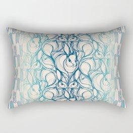 Rabbit Run Navy Rectangular Pillow
