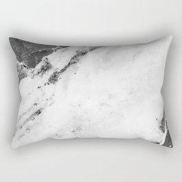 Titan River Black Rectangular Pillow