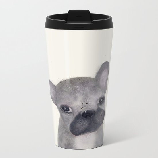 little french bulldog Metal Travel Mug