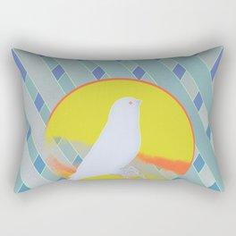 Bluebird waits summer Rectangular Pillow