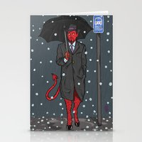 satan Stationery Cards featuring Hail, Satan by Christian Panic