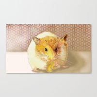 hamster Canvas Prints featuring Hamster by Lucie Mizutani