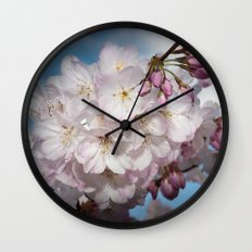 Under A Cherry Tree Wall Clock