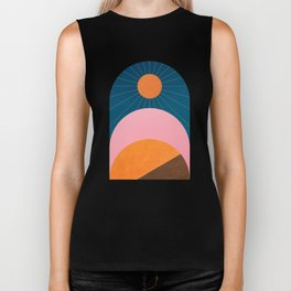 Abstraction_Sunshine_Minimalism_001 Biker Tank