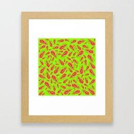 Gone Shrimping (Green) Framed Art Print