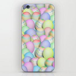 Pastel Colored Easter Eggs iPhone Skin