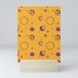 Orange and purple planetary, space rocks and energy! Mini Art Print