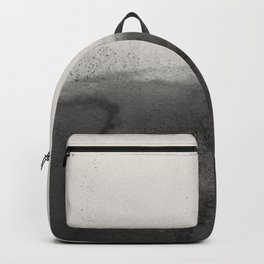 Abstract black watercolor 3 Backpack