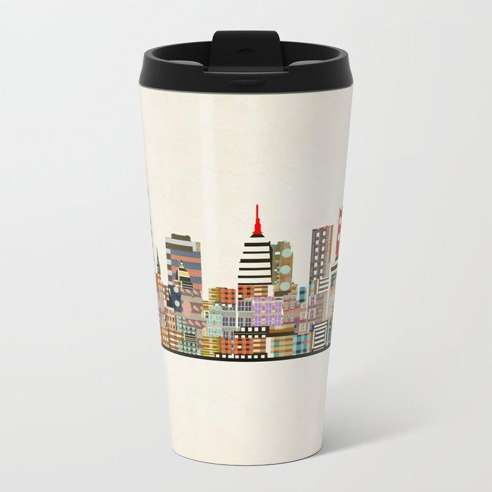 oklahoma city skyline Metal Travel Mug