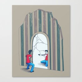 Self Conflict Canvas Print